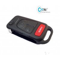 Carkey - Mahindra Bolero MINDA Flip Key Replacement Shell(Without Key Blade)