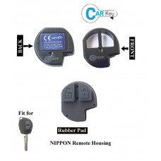 Carkey - Nippon 2 Button Inner remote Shell/Body with Rubber Button/Battery Terminal