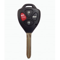 Carkey Toyota 4-Button Replacement Remote Key Shell for Fortuner, Camry, Corolla