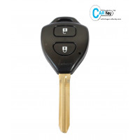 Carkey 2-Button  Replacement Remote Key Shell for Toyota Innova/Fortuner