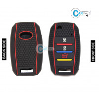 Carkey - Premium Silicone Key Cover for Kia Seltos(Flip Key)