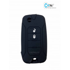 Carkey - JEEP 2 Button Flip Key Silicone Key Cover (Black)