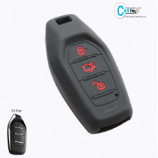 Carkey- Mahindra XUV 500 SMART KEY BLACK SILICONE KEY COVER
