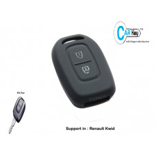 Carkey- Silicone Cover For Renault Kwid(Black)