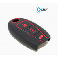 Carkey- Silicone Cover For Ciaz/Baleno/Swfit/Breeza/Vitara/S-Cross(Black)