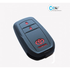 Carkey - Toyota Innova Crysta Black Silicone Key Cover(Only Push Start)
